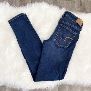 American Eagle Dark Wash 4 Long Skinny Jeans